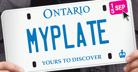 Pick an Ontario License Plate
