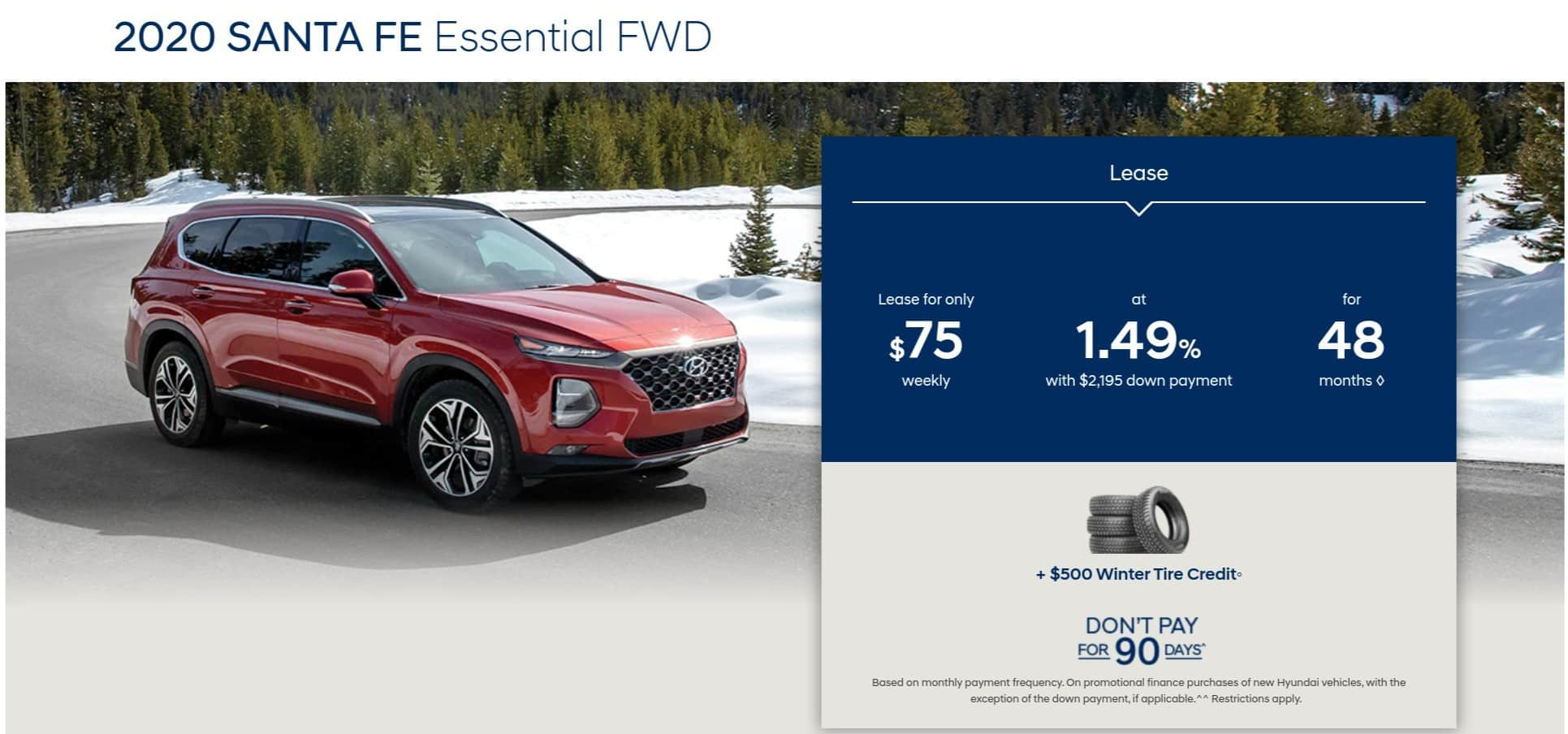 2020 Hyundai Santa Fe is one of the best new car deals in Canada