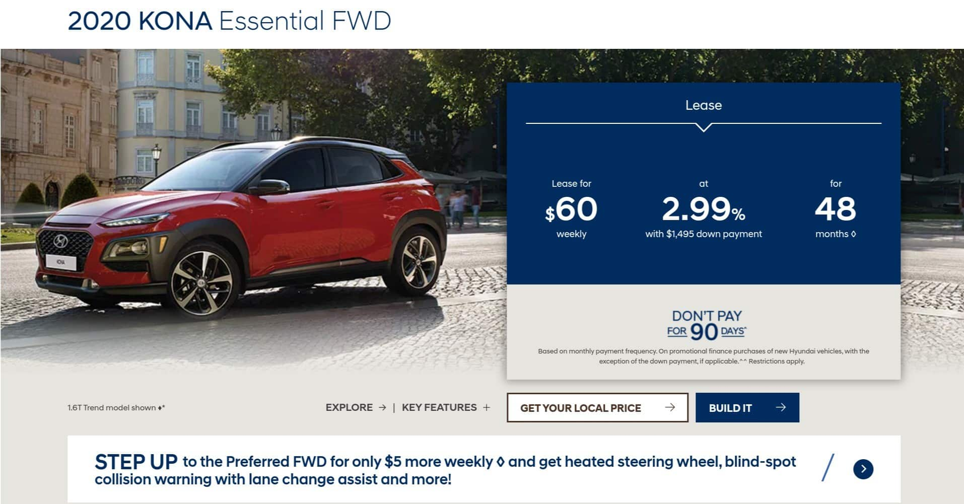 2020 Hyundai Kona is one of the best new car deals in Canada