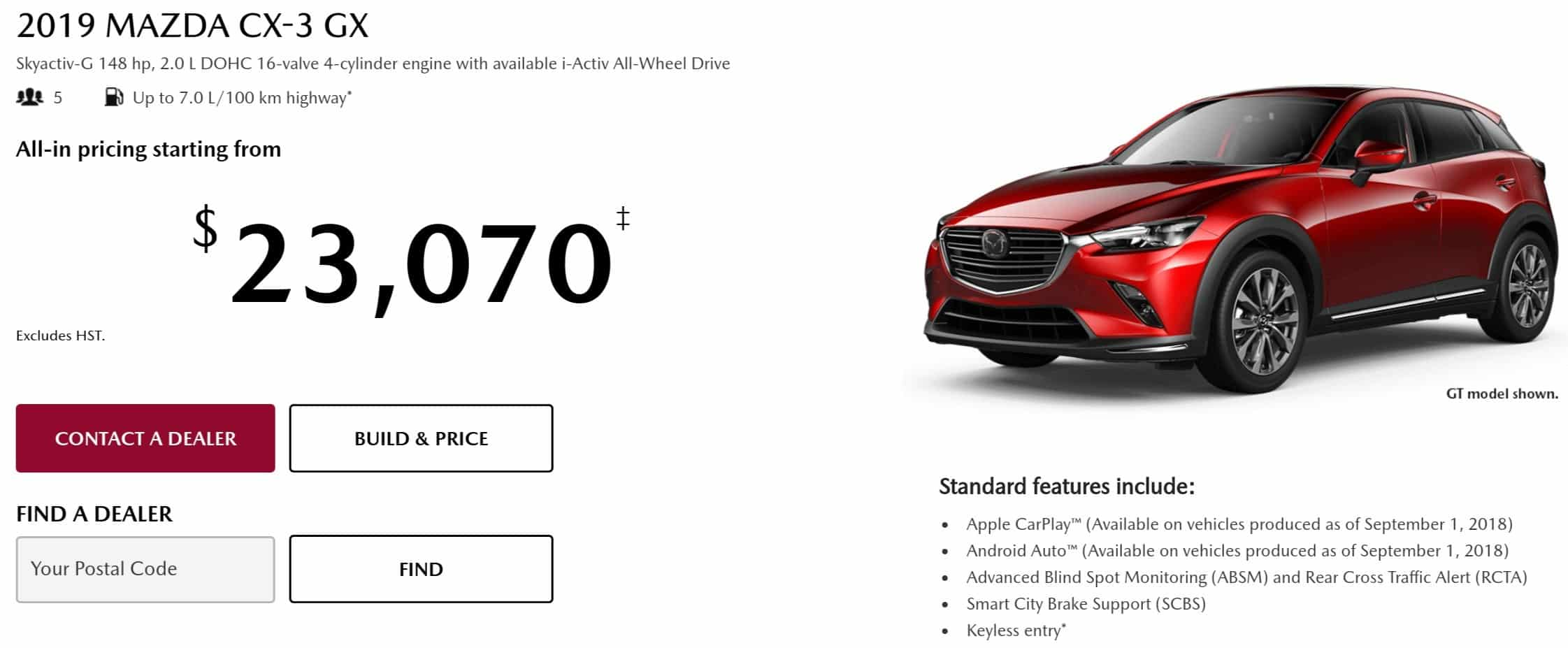 2019 Mazda CX 3 is one of the best new car deals in Canada
