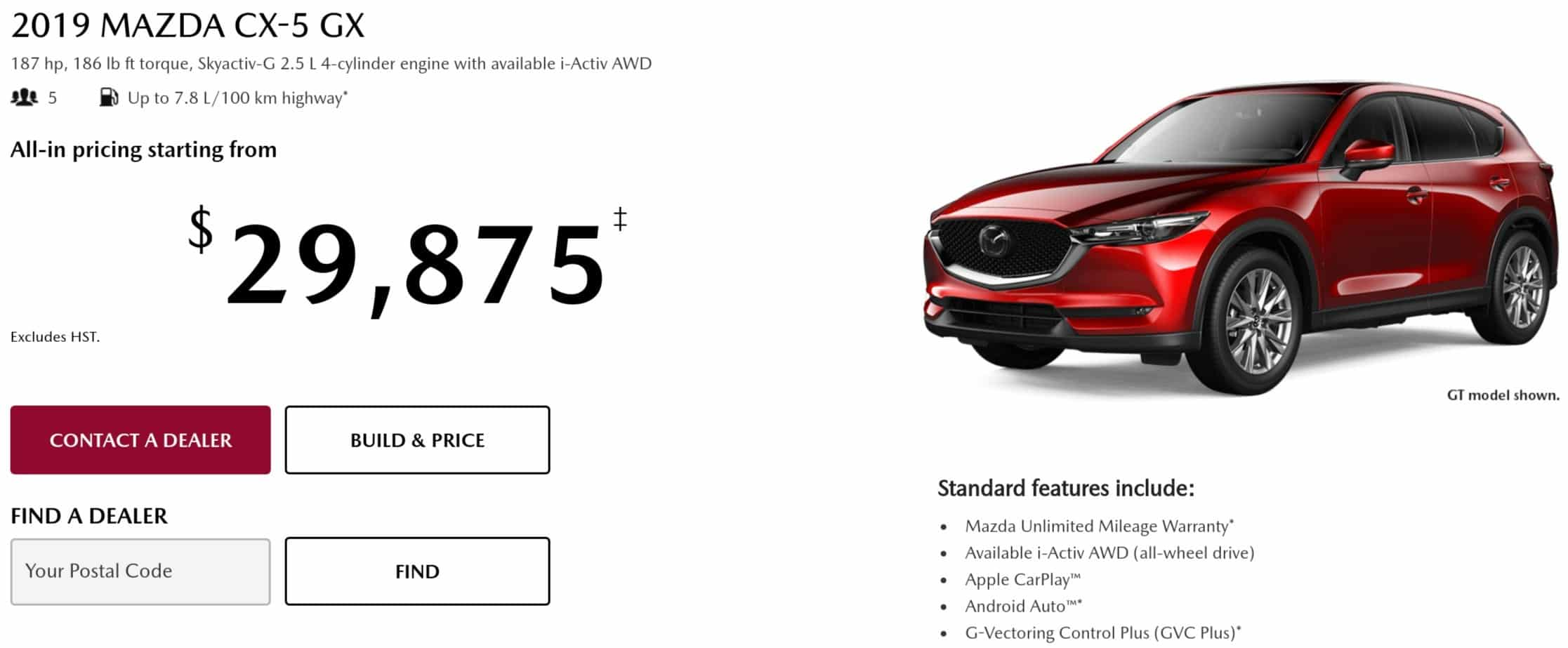 2019 Mazda CX 5 is one of the best new car deals in Canada