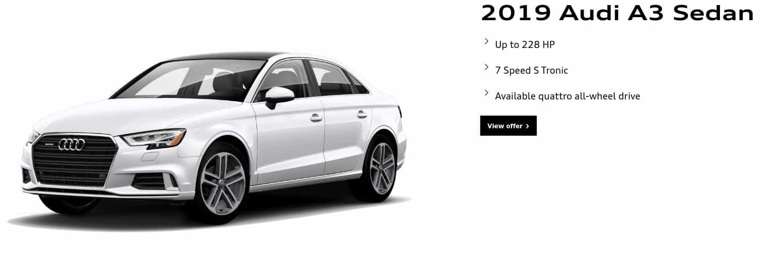 2019 Audi A3 is one of the best new car deals in Canada