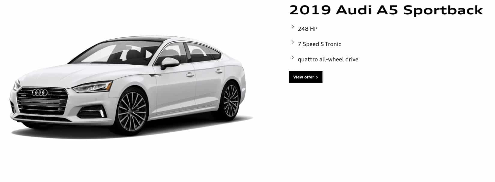 2019 Audi A5 is one of the best new car deals in Canada