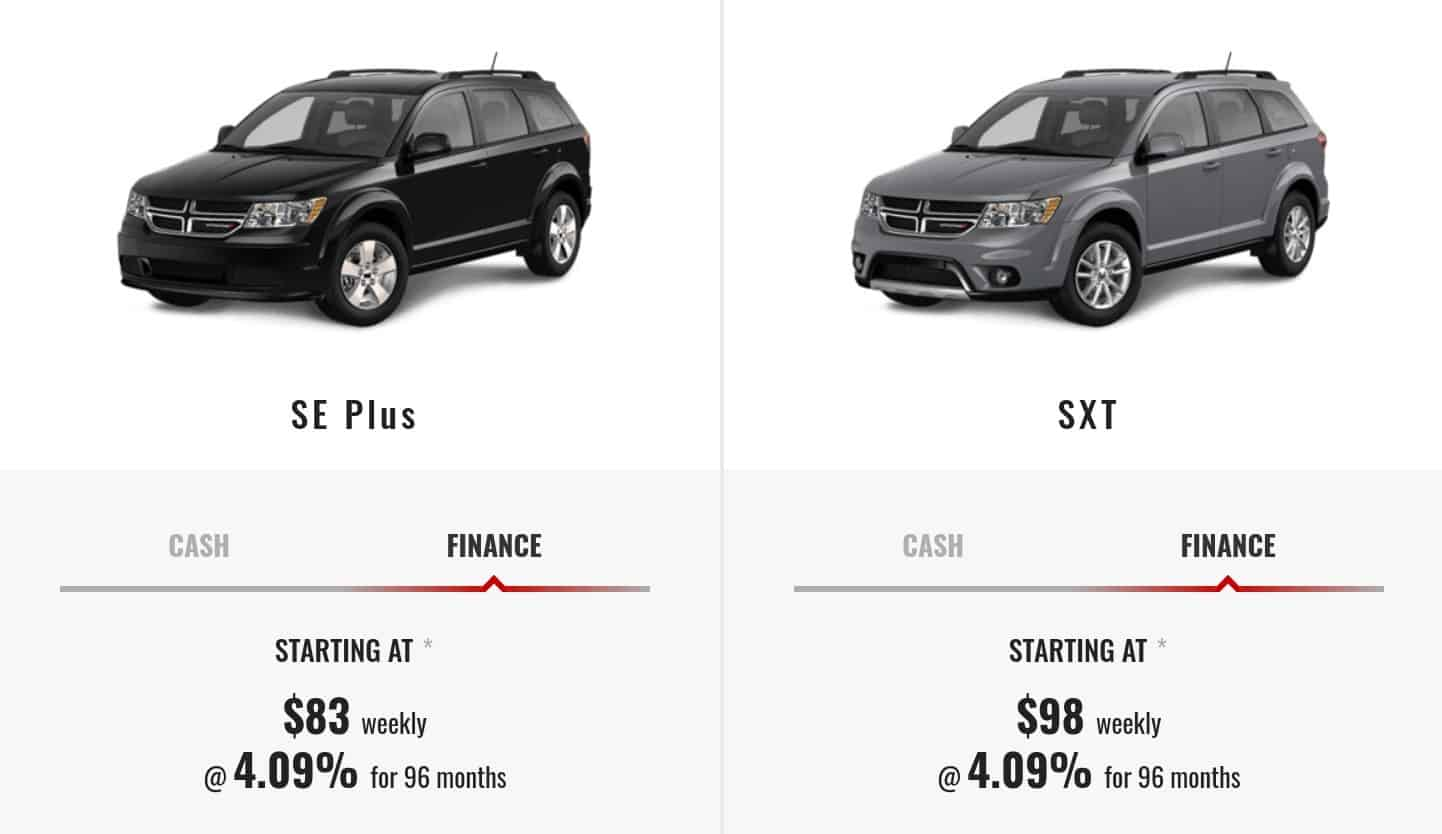 2019 Dodge Journey is one of the best 7 seater suv lease and finance deals
