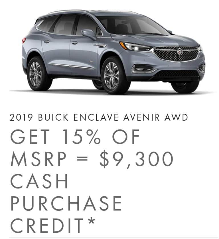 2020 Buick Enclave is one of the best 7 seater suv lease and finance deals