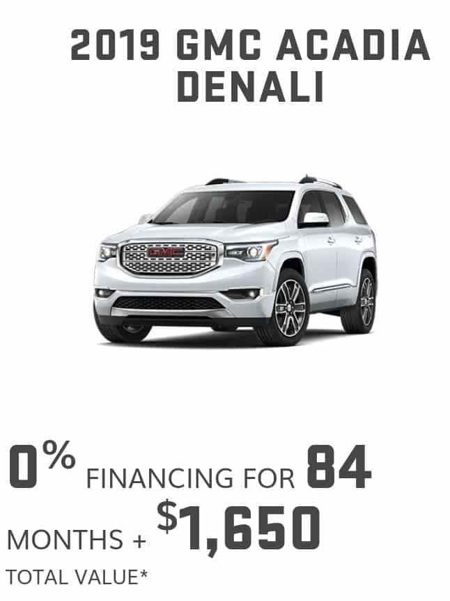 2020 GMC Acadia is one of the best 7 seater suv lease and finance deals