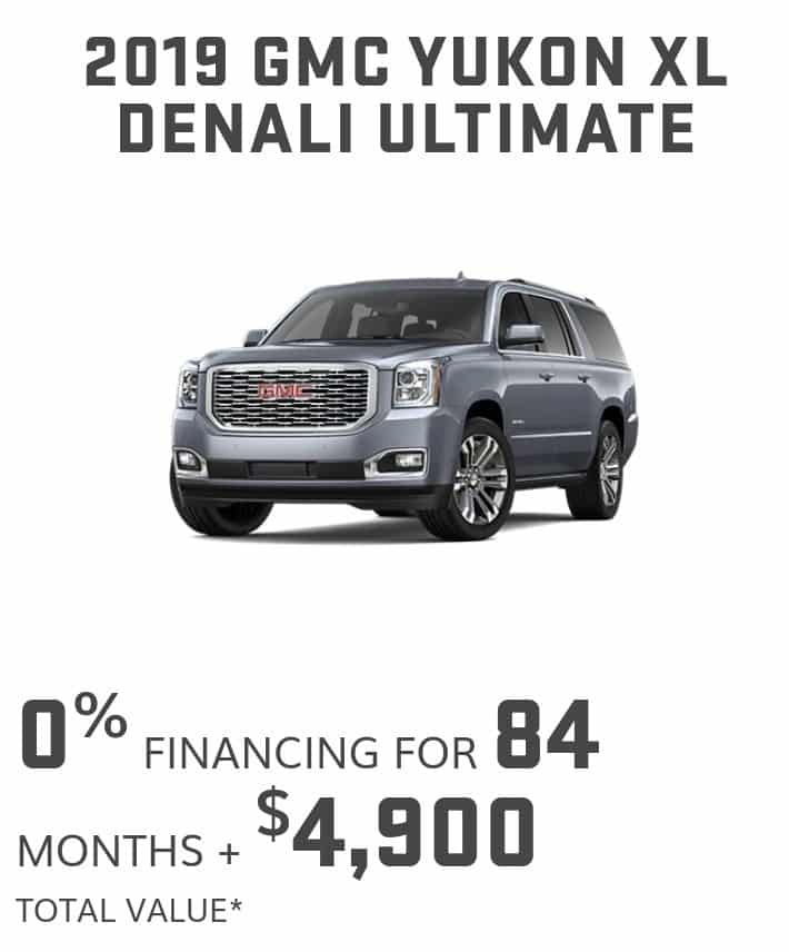 2019 GMC Yukon is one of the best 7 seater suv lease and finance deals