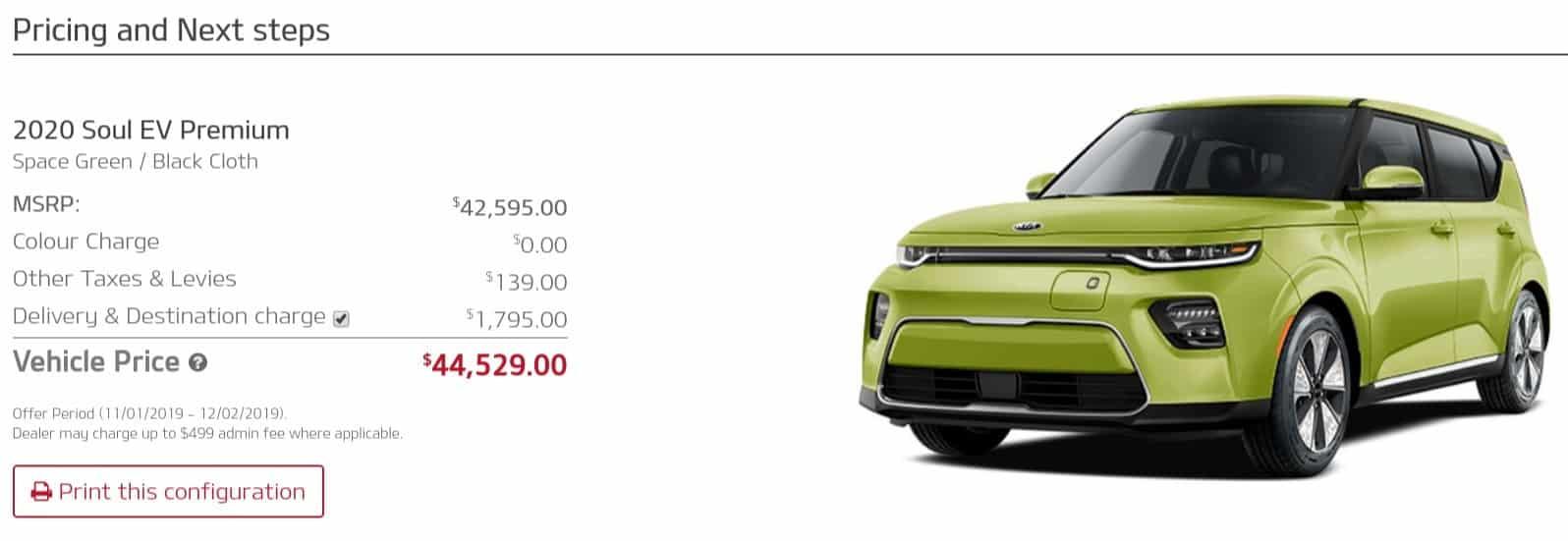 2020 Kia Soul EV is a great electric car deal