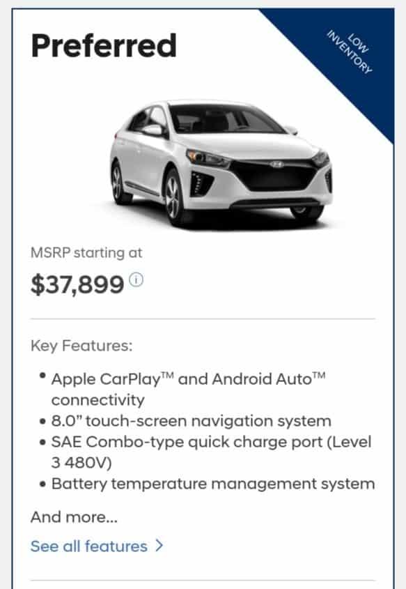2019 Hyundai Ioniq is a great electric car deal