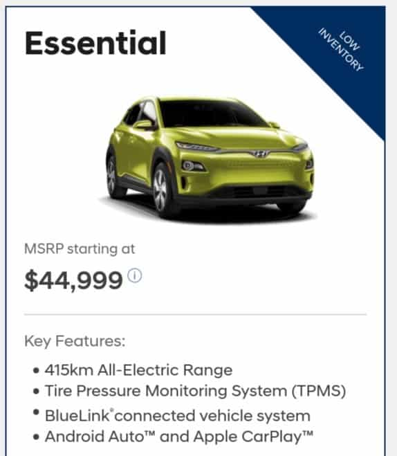 2019 Hyundai Kona EV is a great electric car deal