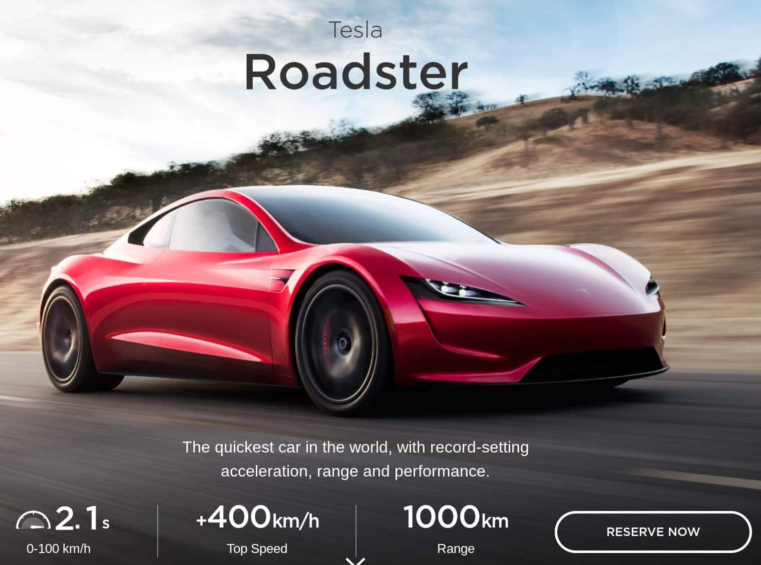 2020 Tesla Roadster is a great electric car deal
