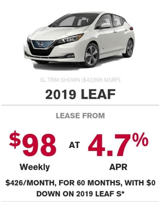 2019 Nissan Leaf is a great electric car deal