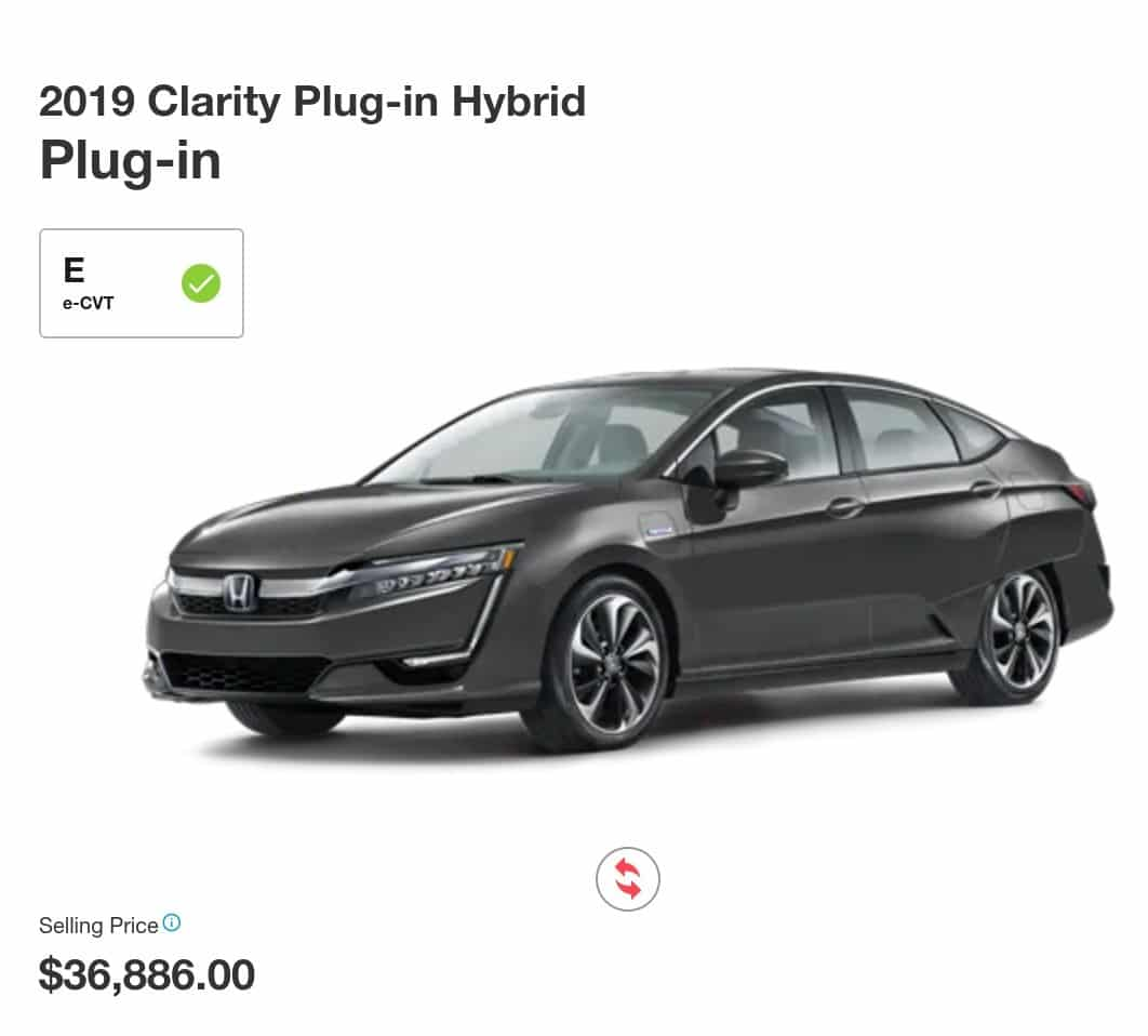 2019 Honda Clarity Hybrid is a great electric car deal