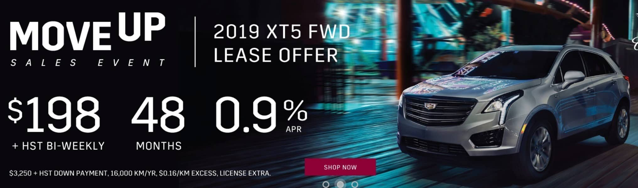 2019 Cadillac XT5 is a great SUV lease or finance deal in Canada