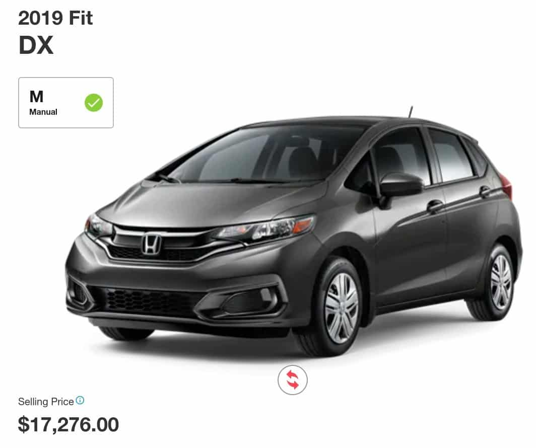 2019 Honda Fit is a great lease or finance deal in Canada