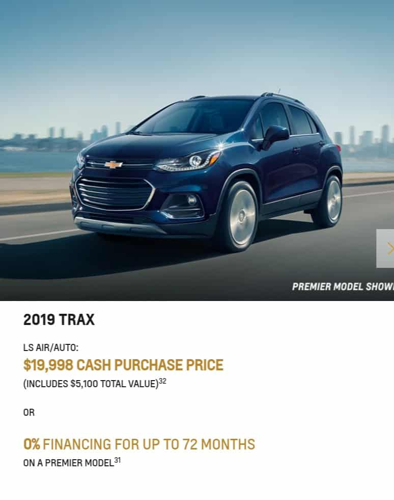 Chevrolet Trax 2020 Offers