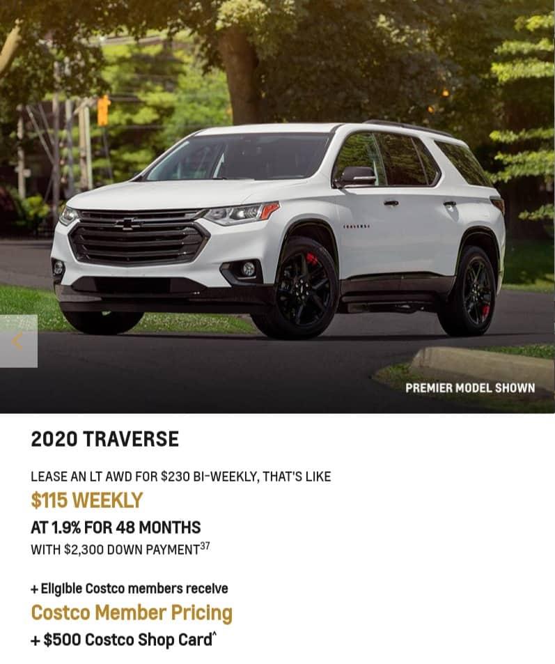 Chevrolet Traverse 2020 January Offer