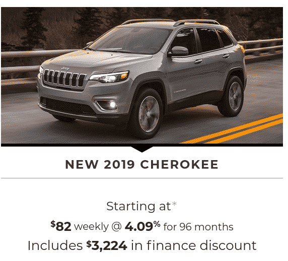 2019 Jeep Cherokee is a great SUV lease or finance deal in Canada