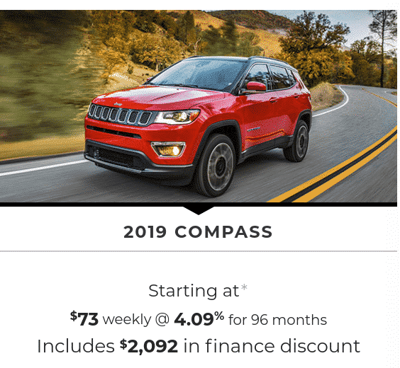 2019 Jeep Compass is a great SUV lease or finance deal in Canada