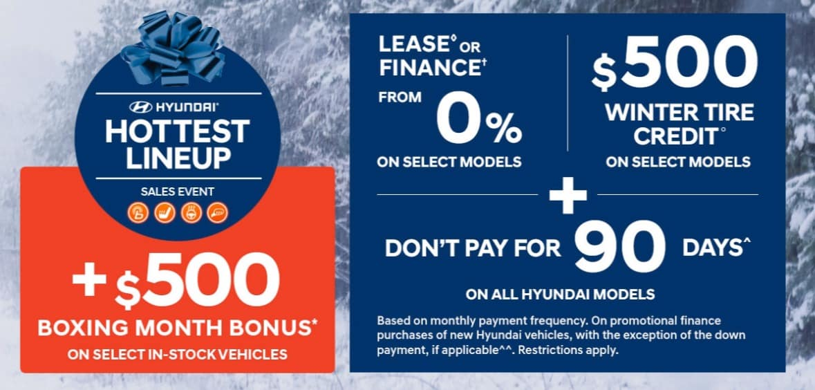 Hyundai has some of the best new car deals in Ontario