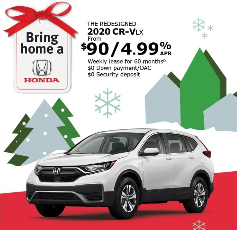 The Honda CRV lease is one of the best new car deals in Ontario
