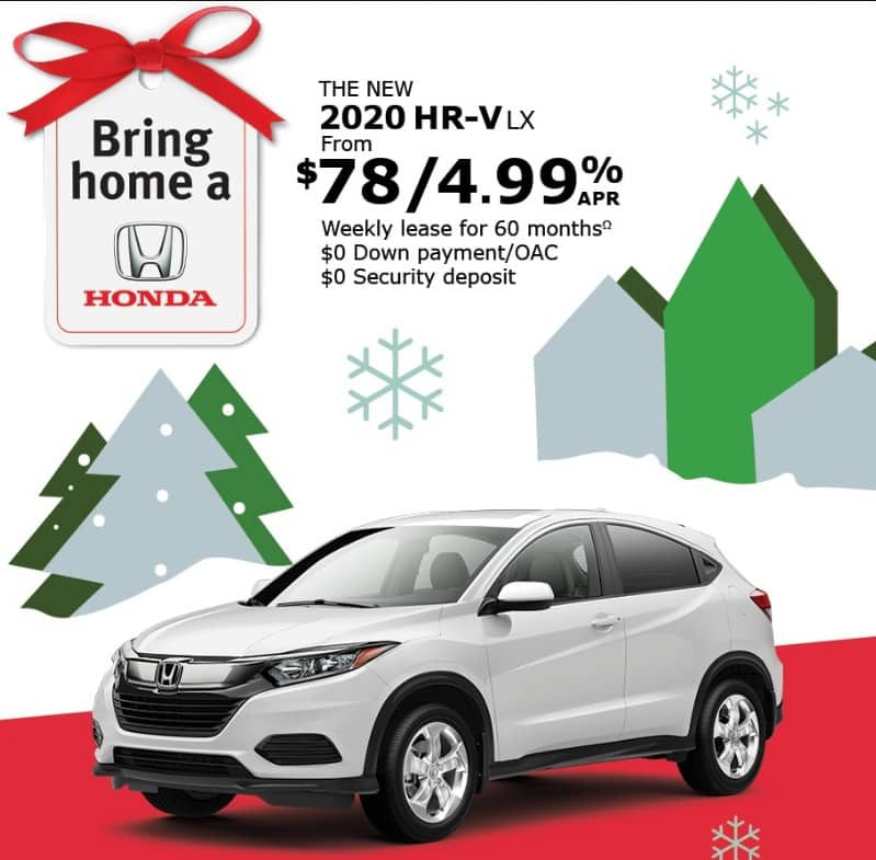 The Honda HRV lease is one of the best new car deals in Ontario