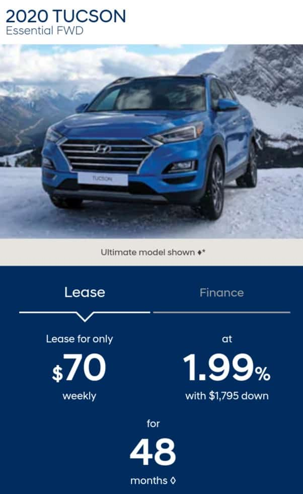 The Hyundai Tucson is one of the best new car deals