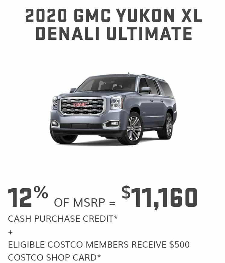 2020 GMC Yukon lease offer