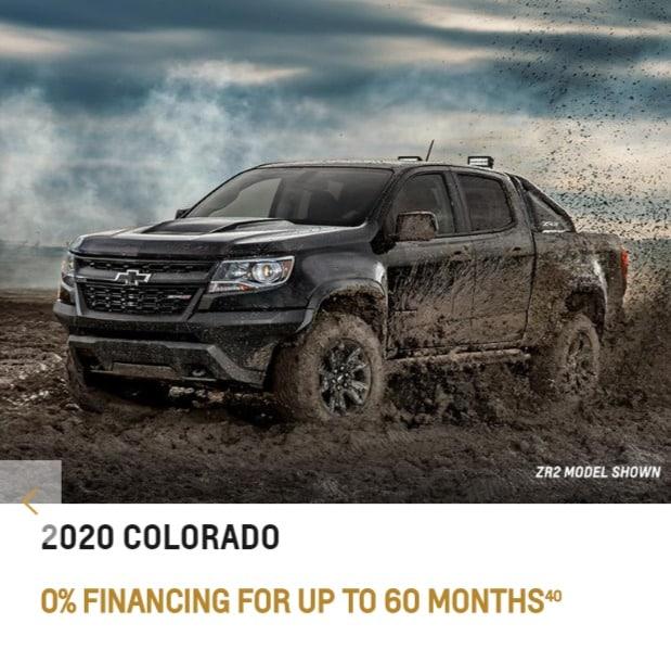 2020 Chevrolet Colorado Lease Deals Ontario