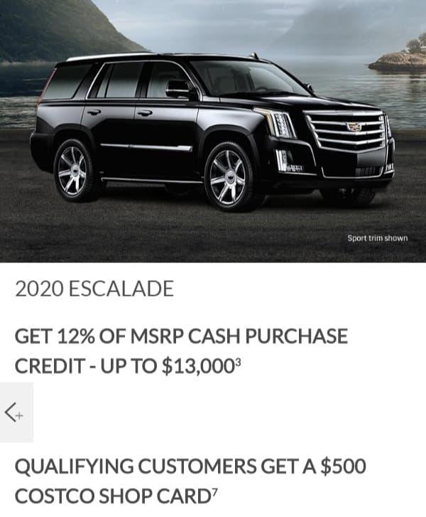 2020 Cadillac Escalade Lease Deals Ontario