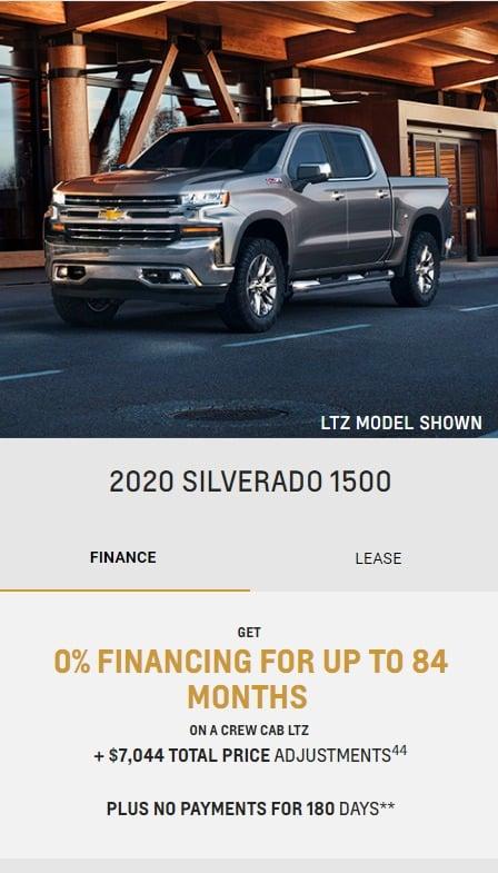 2020 Chevrolet Lease Deals & Finance Offers