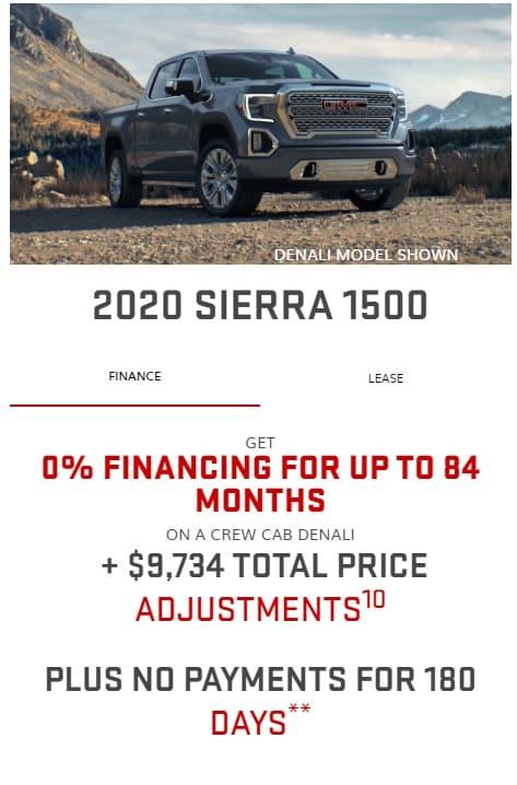 2020 GMC Lease Deals & Finance Offers