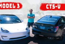 Photo of 2020 Cadillac CT5-V vs 2020 Tesla Model 3