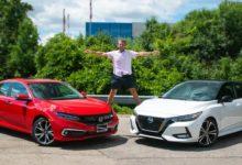 Photo of 2020 Nissan Sentra SR vs 2020 Honda Civic Touring