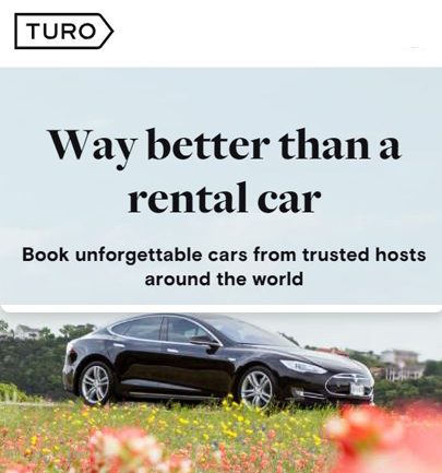 Try Before you Buy with Turo