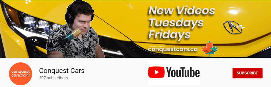 Conquest Cars Youtube Subscribe